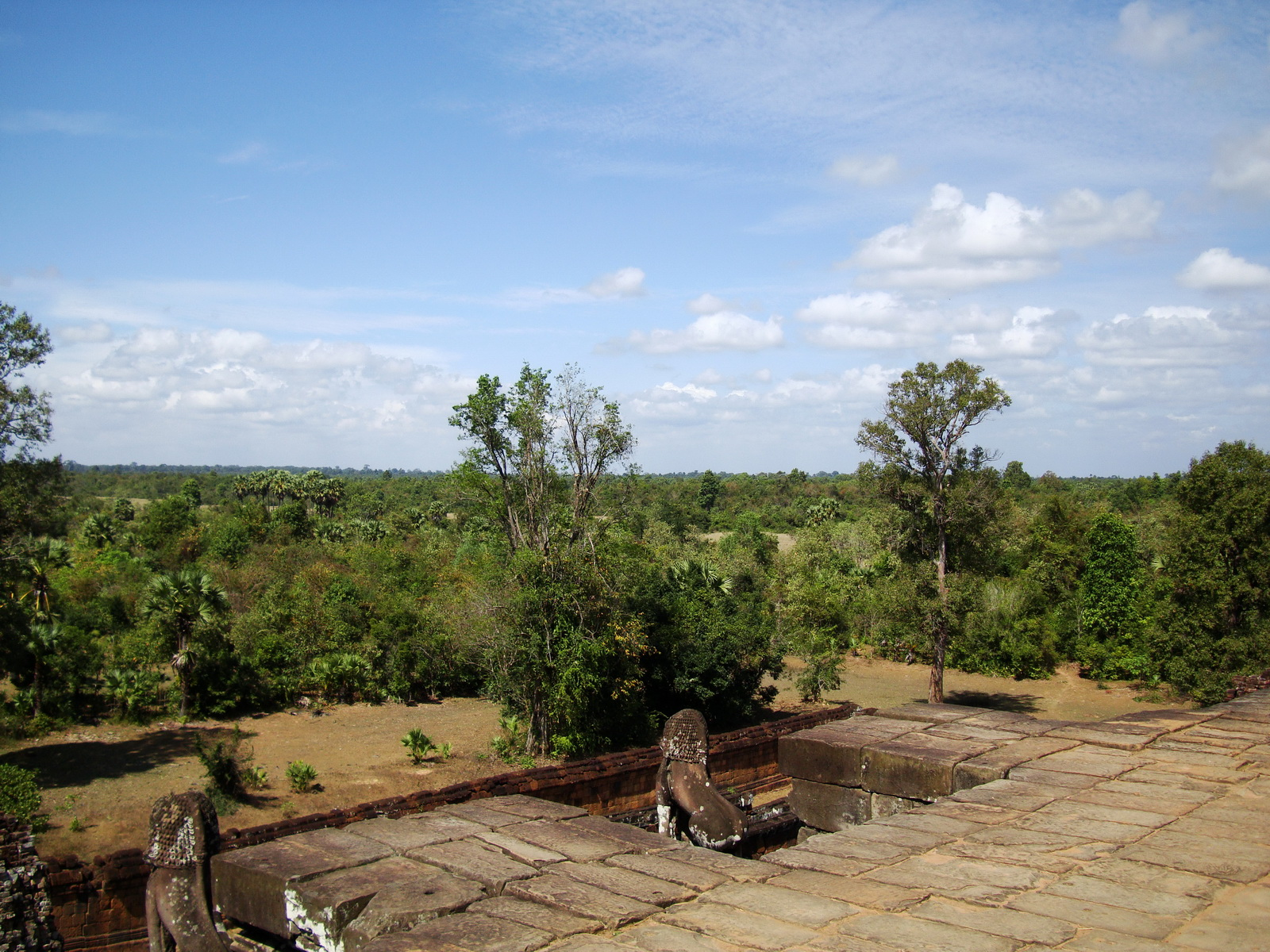 Facing NW Pre Rup Temple upper courtyard views East Baray 2010 01