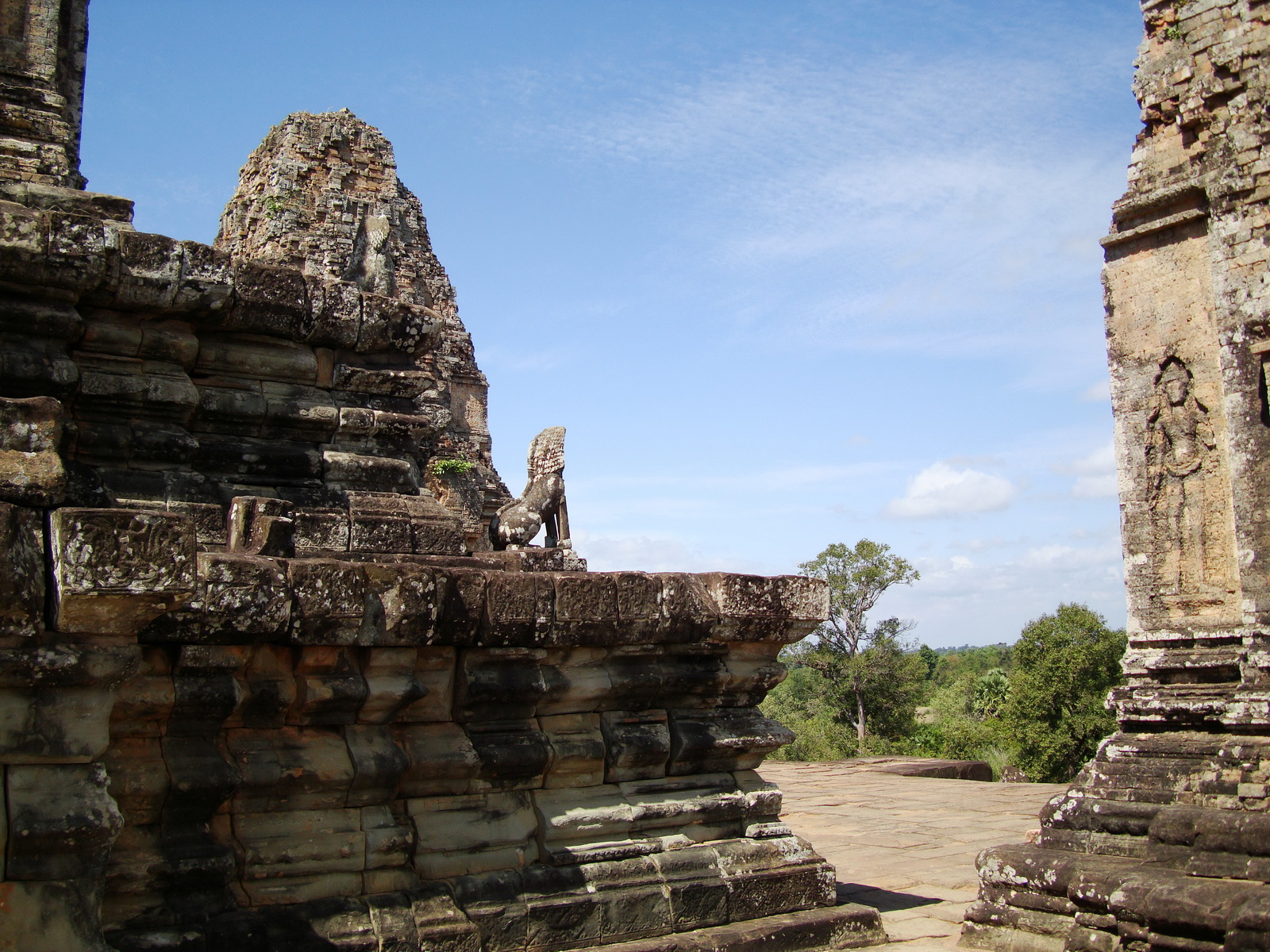 Facing North Pre Rup Temple upper courtyard East Baray 2010 01