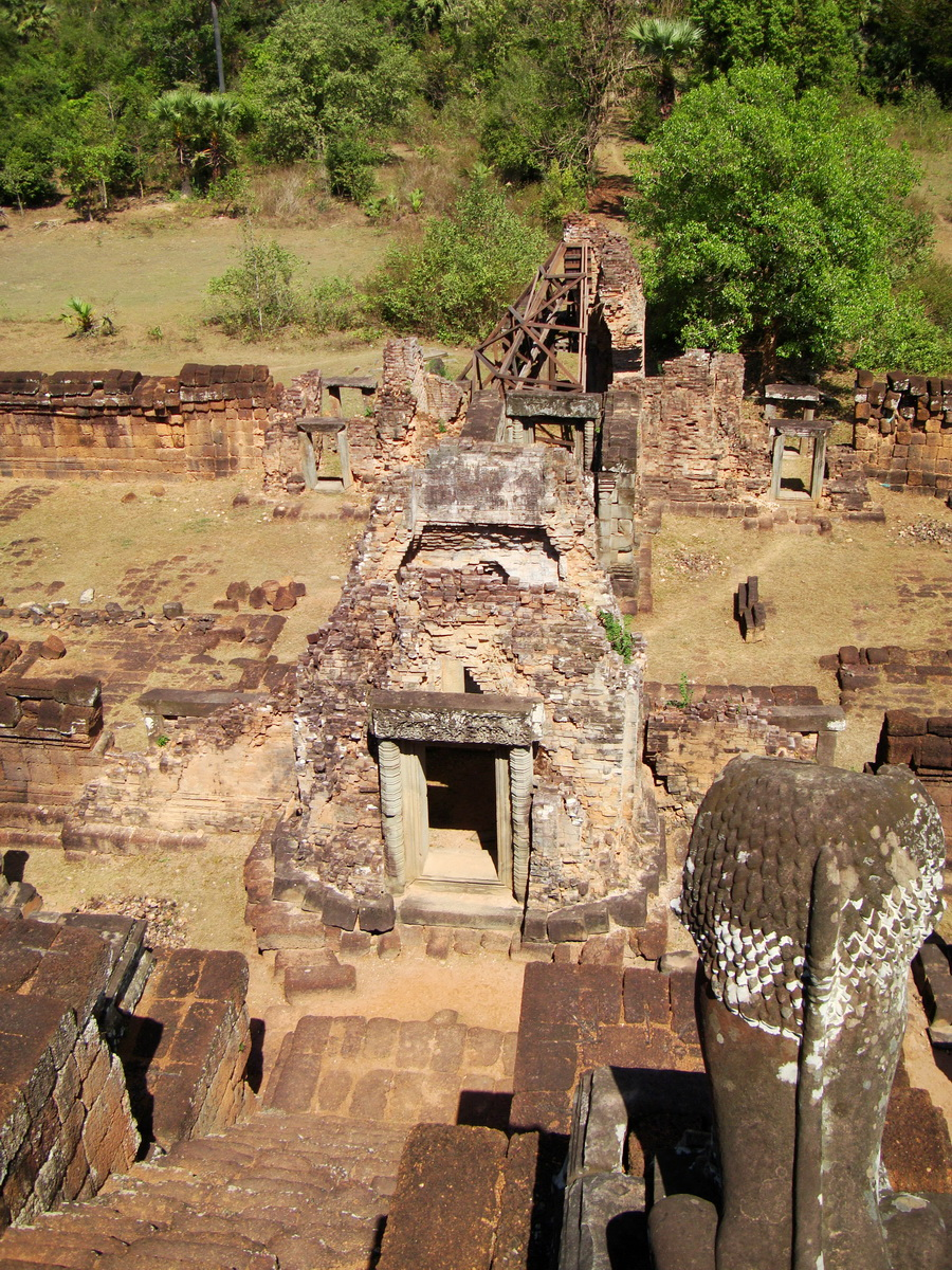 Facing North Pre Rup Temple upper courtyard views East Baray 2010 02
