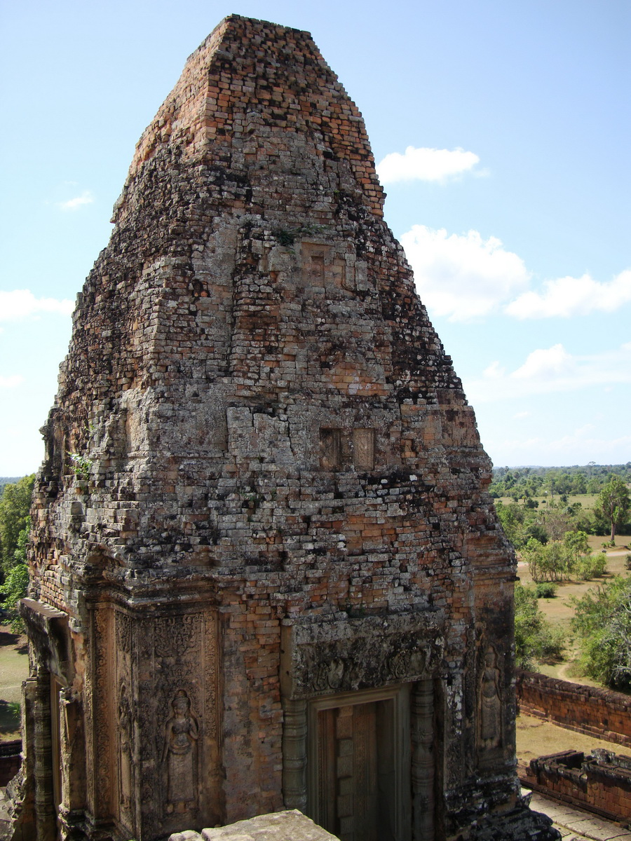 Facing SW Pre Rup Temple SW tower bas reliefs East Baray 02