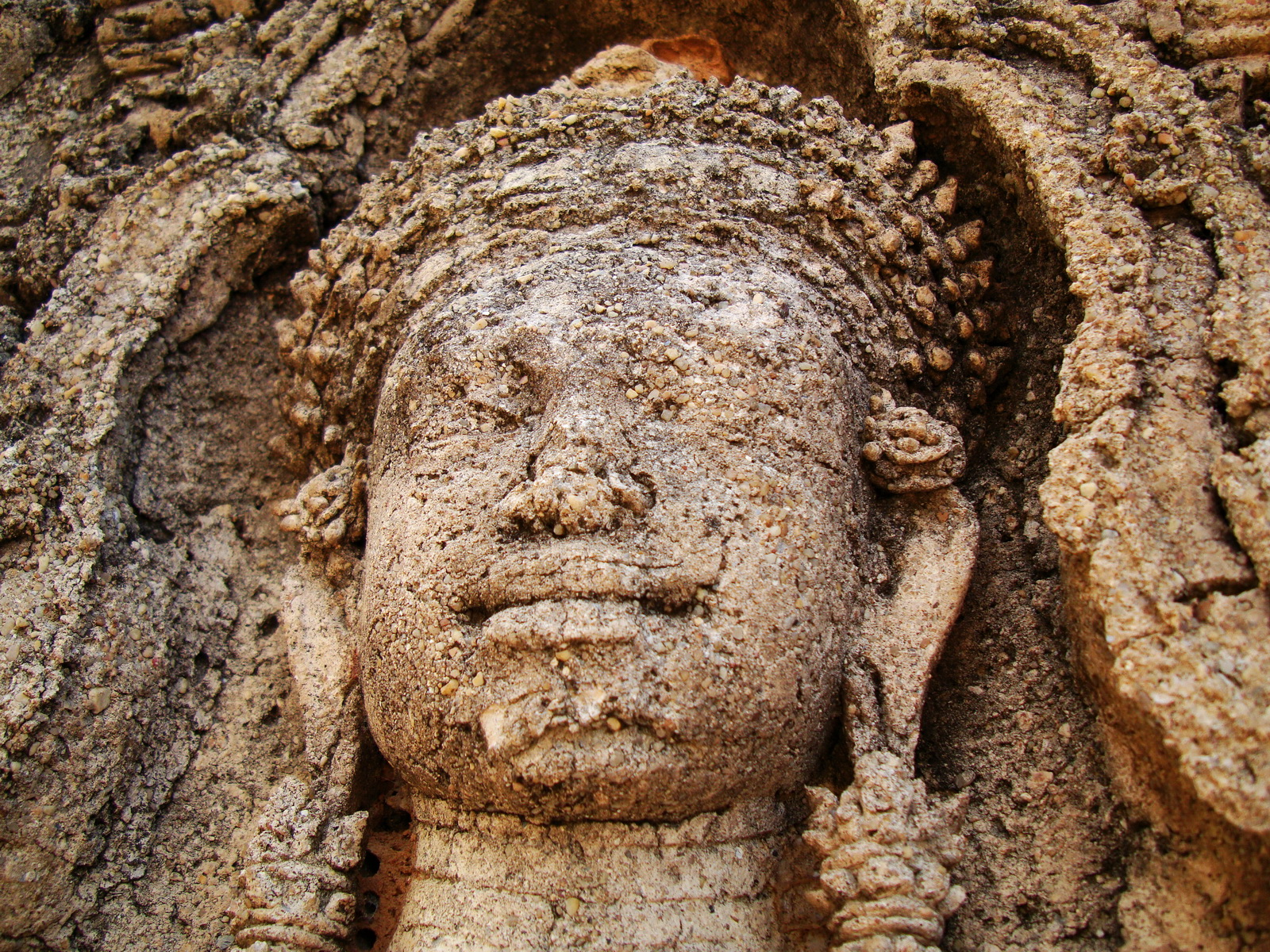 Facing SW Pre Rup Temple SW tower bas reliefs East Baray 06