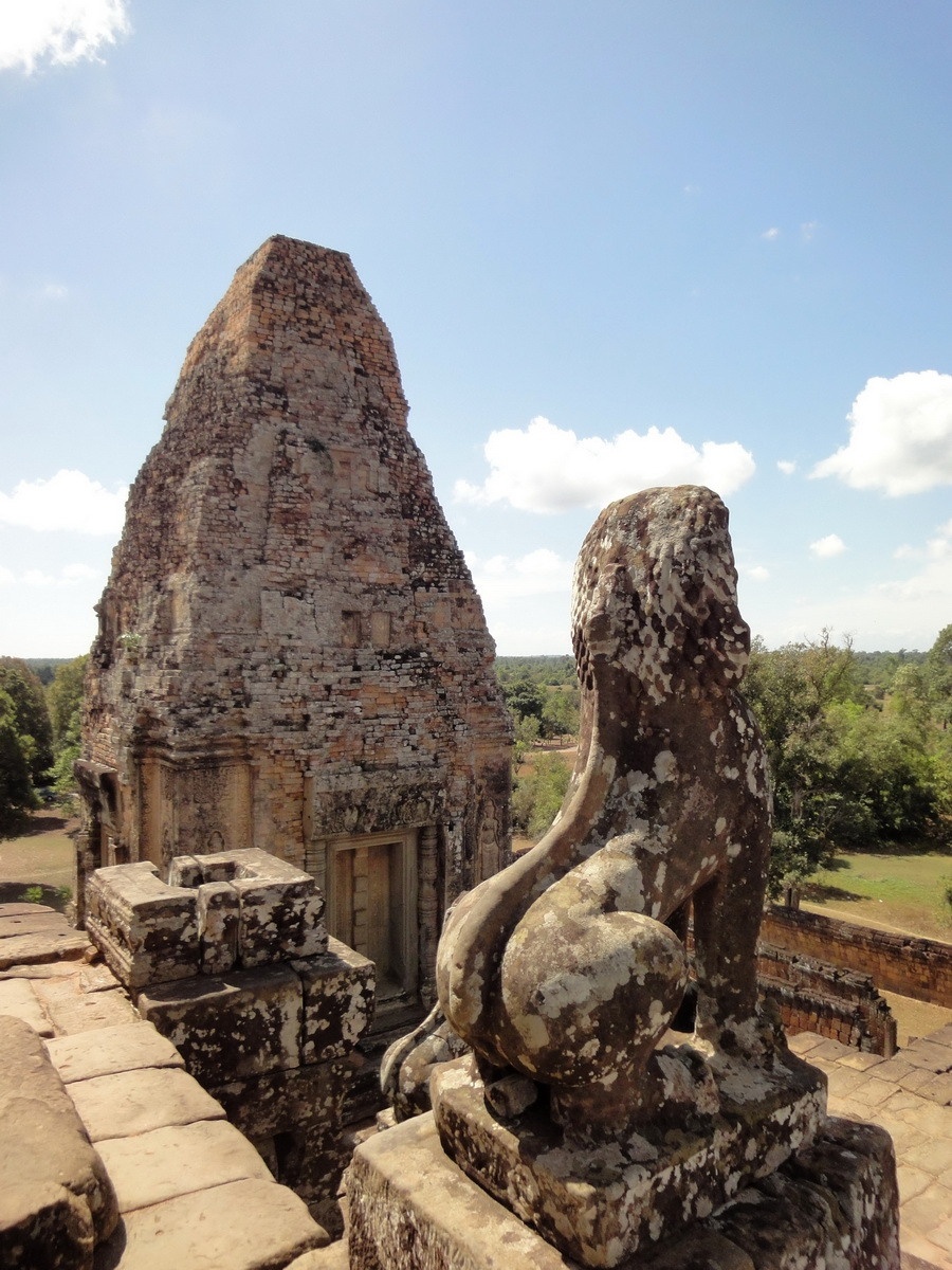 Facing South Pre Rup Temple inner towers East Baray 2010 01