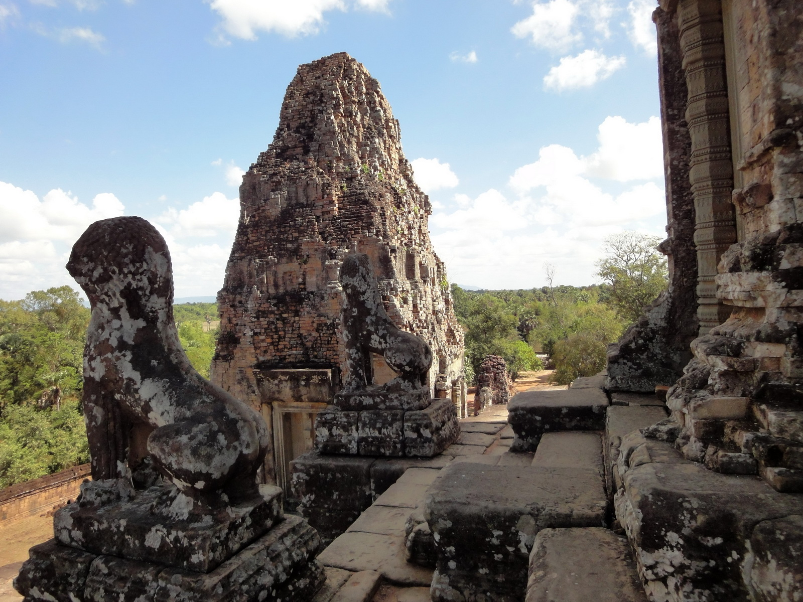 Facing South Pre Rup Temple upper courtyard views East Baray 2010 02