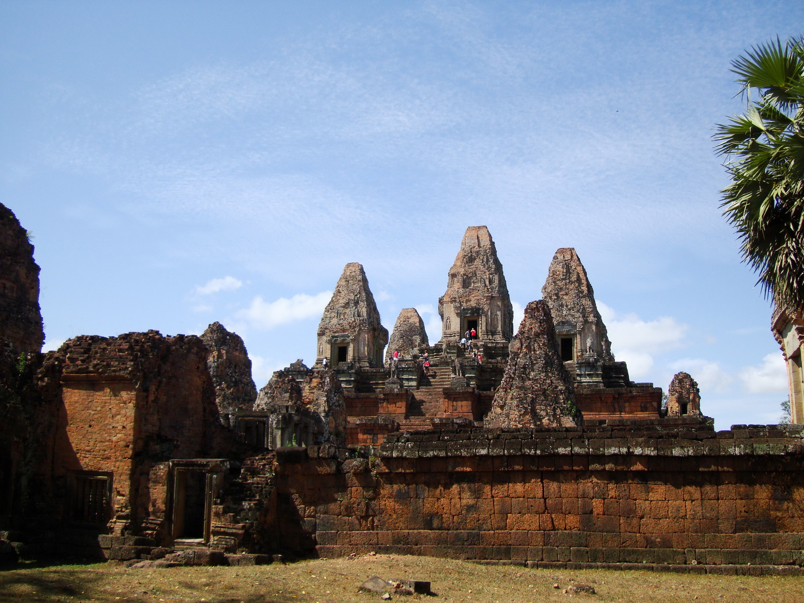 Facing West Pre Rup Temple outer towers East Baray 03