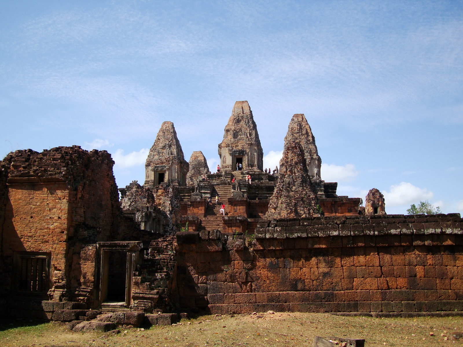 Facing West Pre Rup Temple outer towers East Baray 04