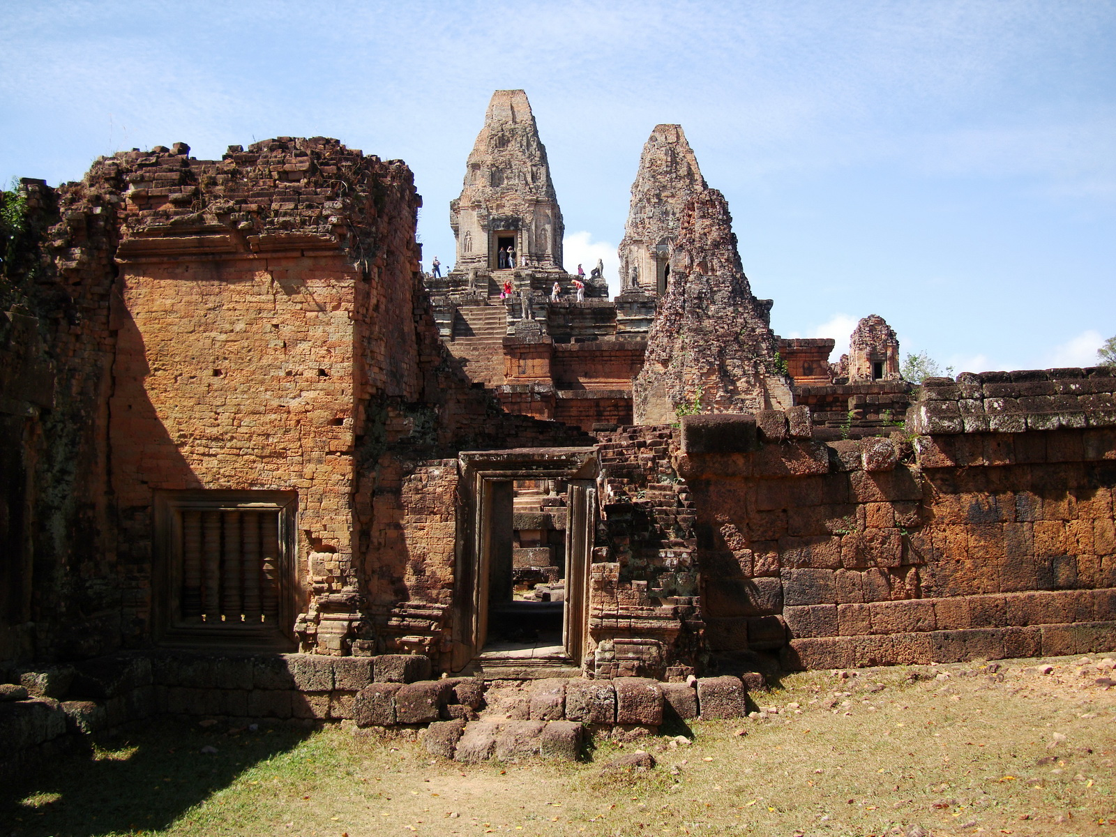Facing West Pre Rup Temple outer towers East Baray 07
