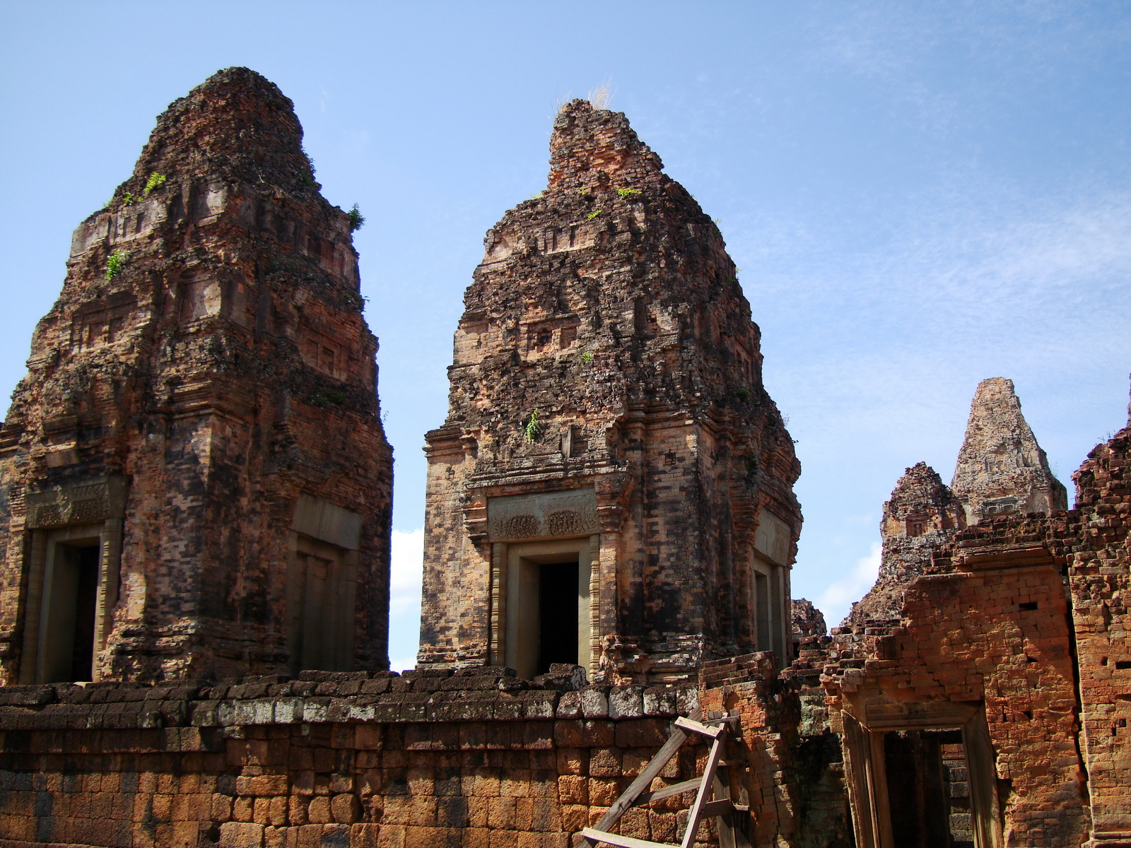 Facing West Pre Rup Temple outer towers East Baray 10
