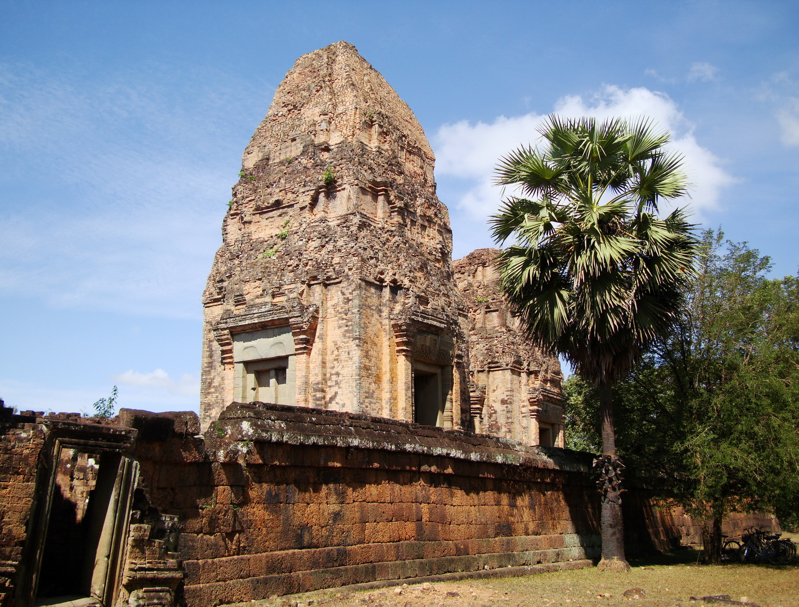 Facing West Pre Rup Temple outer towers East Baray 12