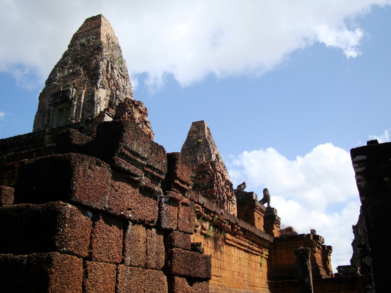 Pre Rup Temple middle courtyard view East Baray Jan 2010 06