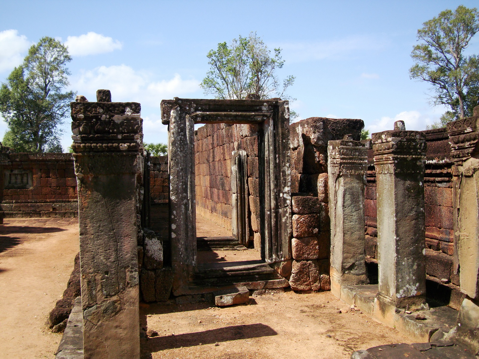 Pre Rup Temple middle courtyard view East Baray Jan 2010 14