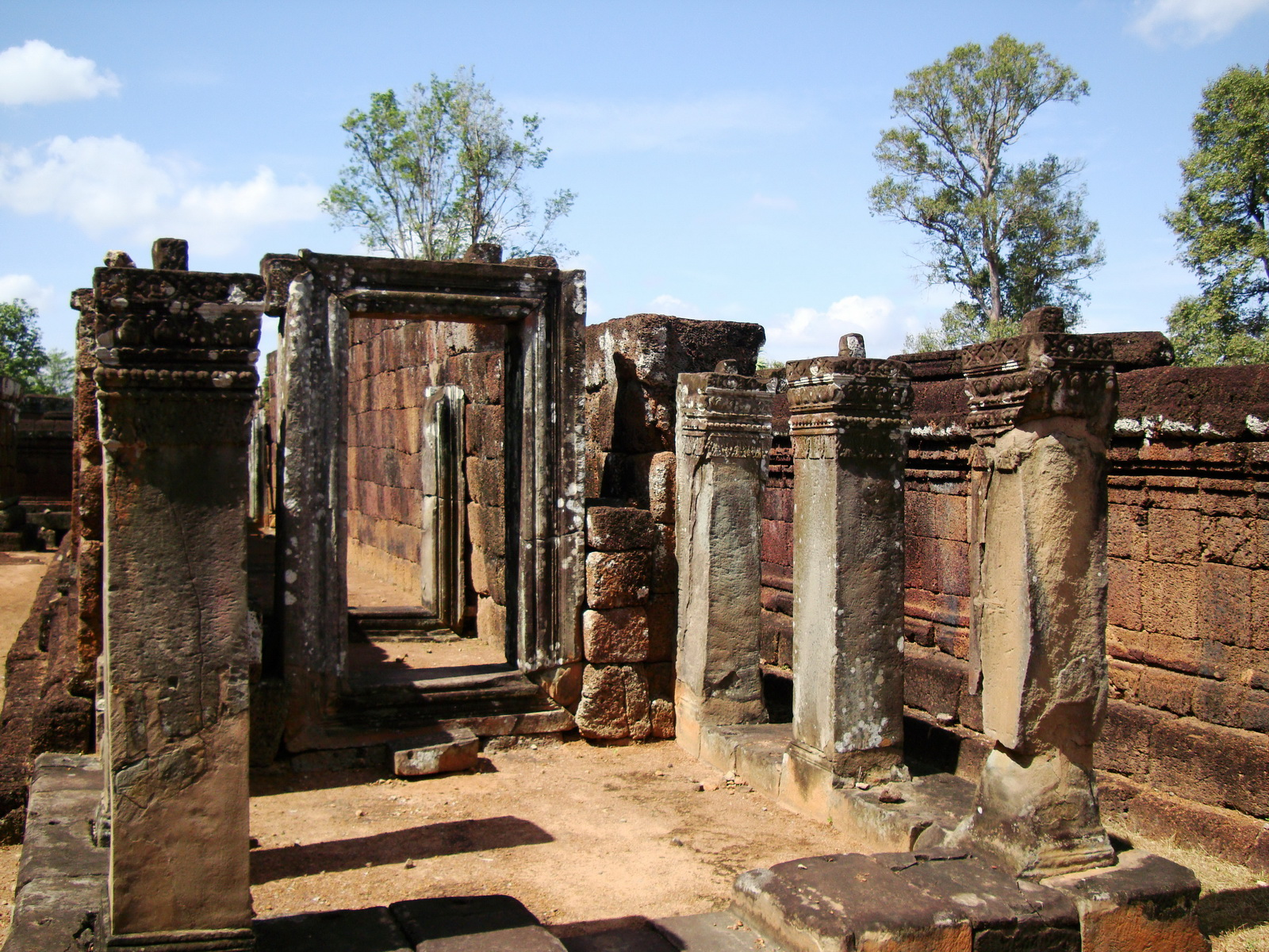 Pre Rup Temple middle courtyard view East Baray Jan 2010 15