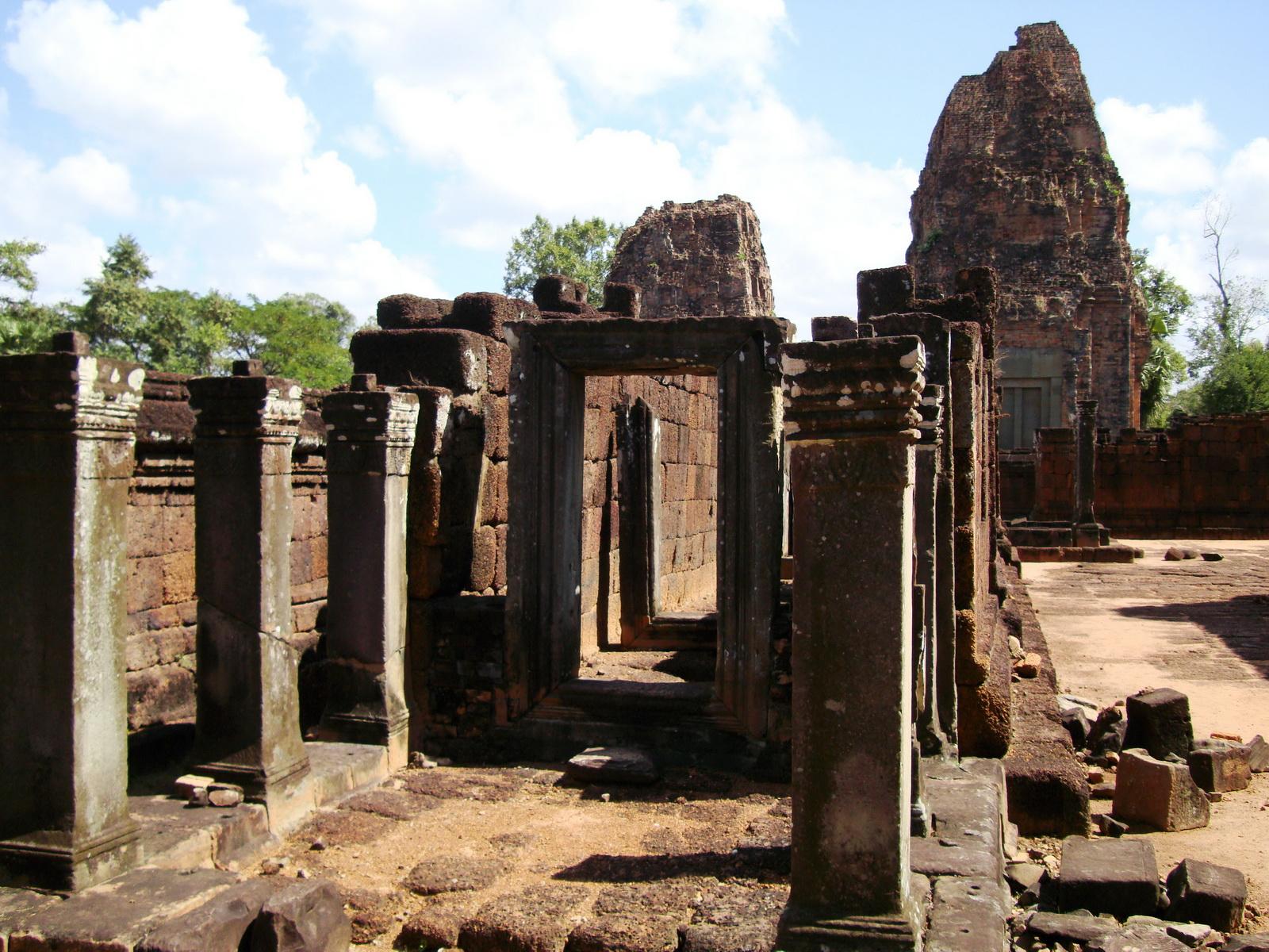 Pre Rup Temple middle courtyard view East Baray Jan 2010 17