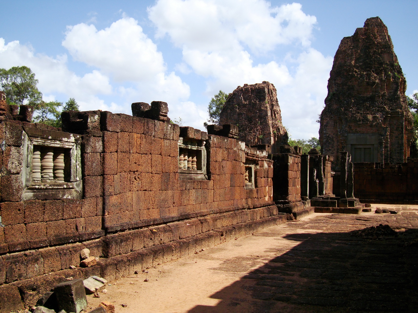 Pre Rup Temple middle courtyard view East Baray Jan 2010 19