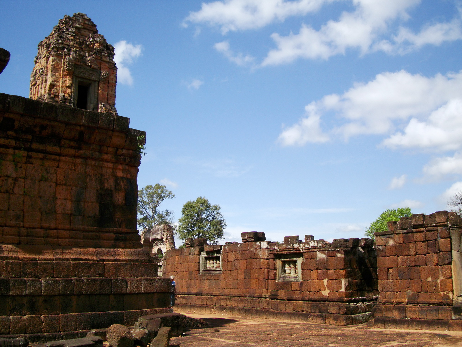 Pre Rup Temple middle courtyard view East Baray Jan 2010 21