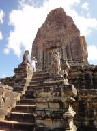 Asisbiz Facing East Pre Rup Temple central tower East Baray Jan 2010 01
