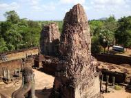Asisbiz Facing East Pre Rup Temple lion and library East Baray 2010 02