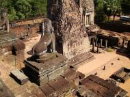 Asisbiz Facing East Pre Rup Temple lion and library East Baray 2010 03