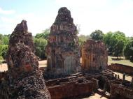 Asisbiz Facing East Pre Rup Temple outer towers East Baray 2010 04