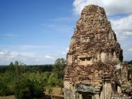 Asisbiz Facing NW Pre Rup Temple NW tower and lion East Baray 01