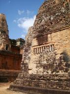 Asisbiz Facing NW Pre Rup Temple lion and library East Baray 2010 01