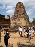Asisbiz Facing NW Pre Rup Temple lion and library East Baray 2010 02