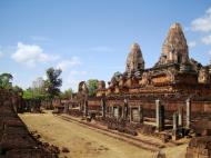 Asisbiz Facing NW Pre Rup Temple lower courtyard view East Baray 2010 02