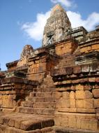 Asisbiz Facing NW Pre Rup Temple upper tower stairs East Baray 2010 04