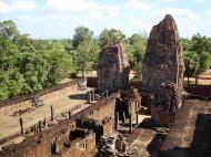 Asisbiz Facing North East Pre Rup Temple upper courtyard views East Baray 2010 01