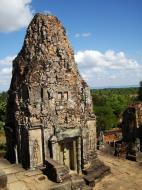 Asisbiz Facing SW Pre Rup Temple SW tower bas reliefs East Baray 01