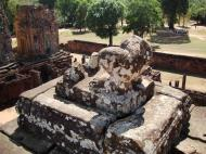 Asisbiz Facing South Pre Rup Temple side view lion remains East Baray 01
