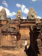 Asisbiz Facing West Pre Rup Temple central towers stairs East Baray 2010 02