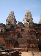 Asisbiz Facing West Pre Rup Temple central towers stairs East Baray 2010 04