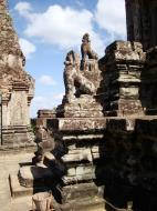 Asisbiz Western side Pre Rup Temple central tower lions East Baray 2010 01