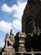 Asisbiz Western side Pre Rup Temple central tower lions East Baray 2010 03