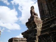 Asisbiz Western side Pre Rup Temple central tower lions East Baray 2010 04