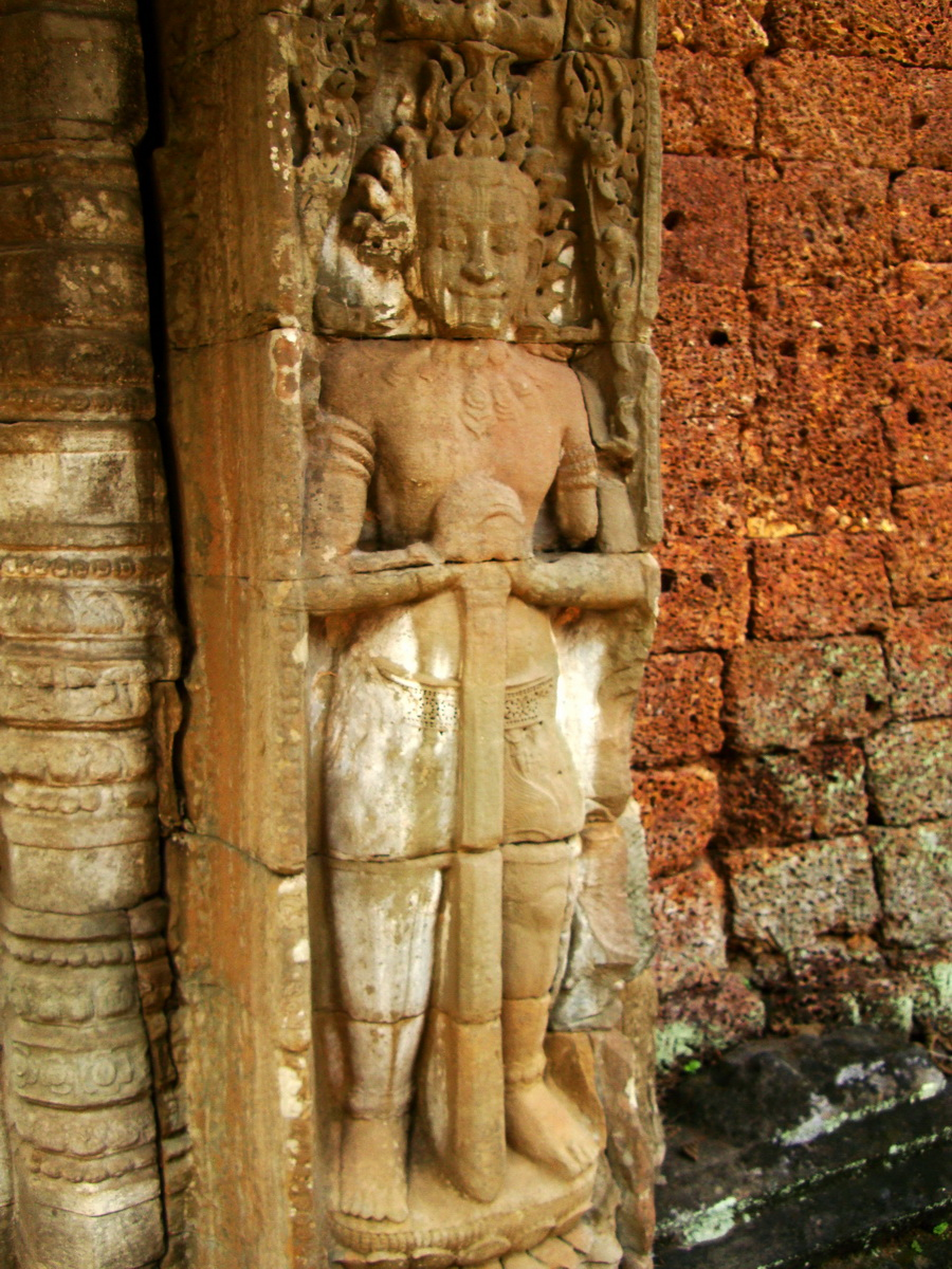 Preah Khan Bas relief mythic guardians Asuras stand on guard 02