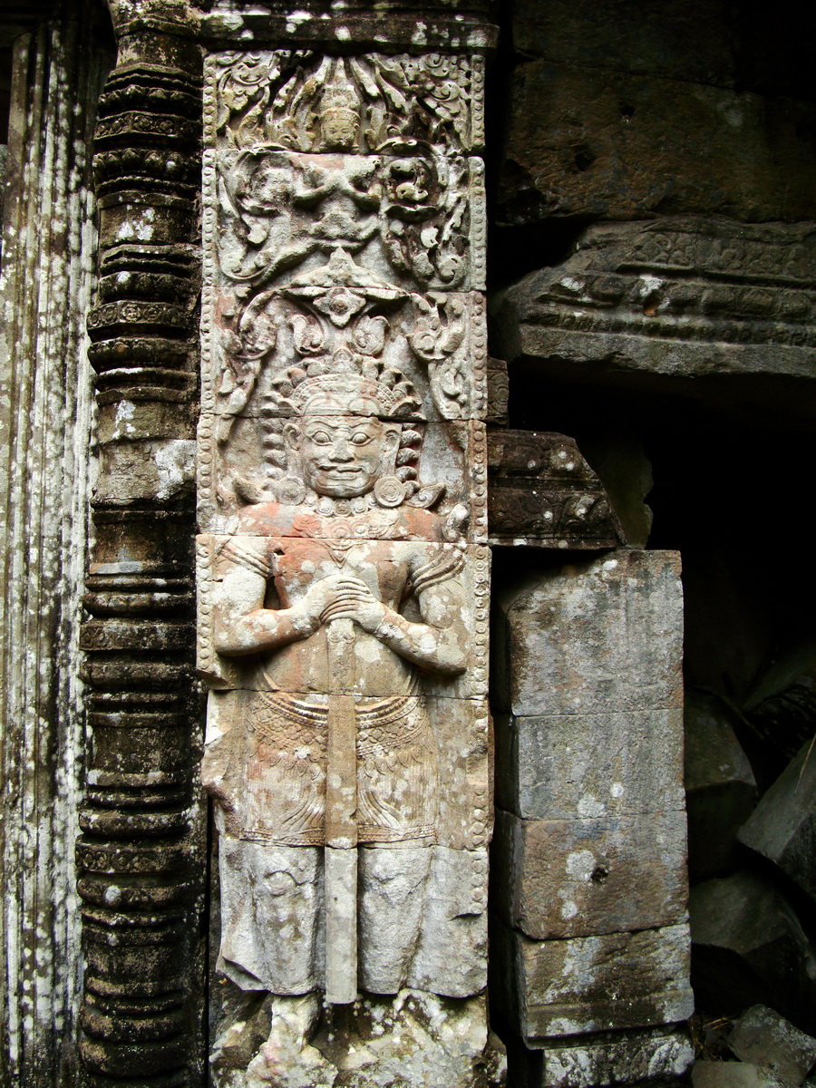 Preah Khan Bas relief mythic guardians Asuras stand on guard 04