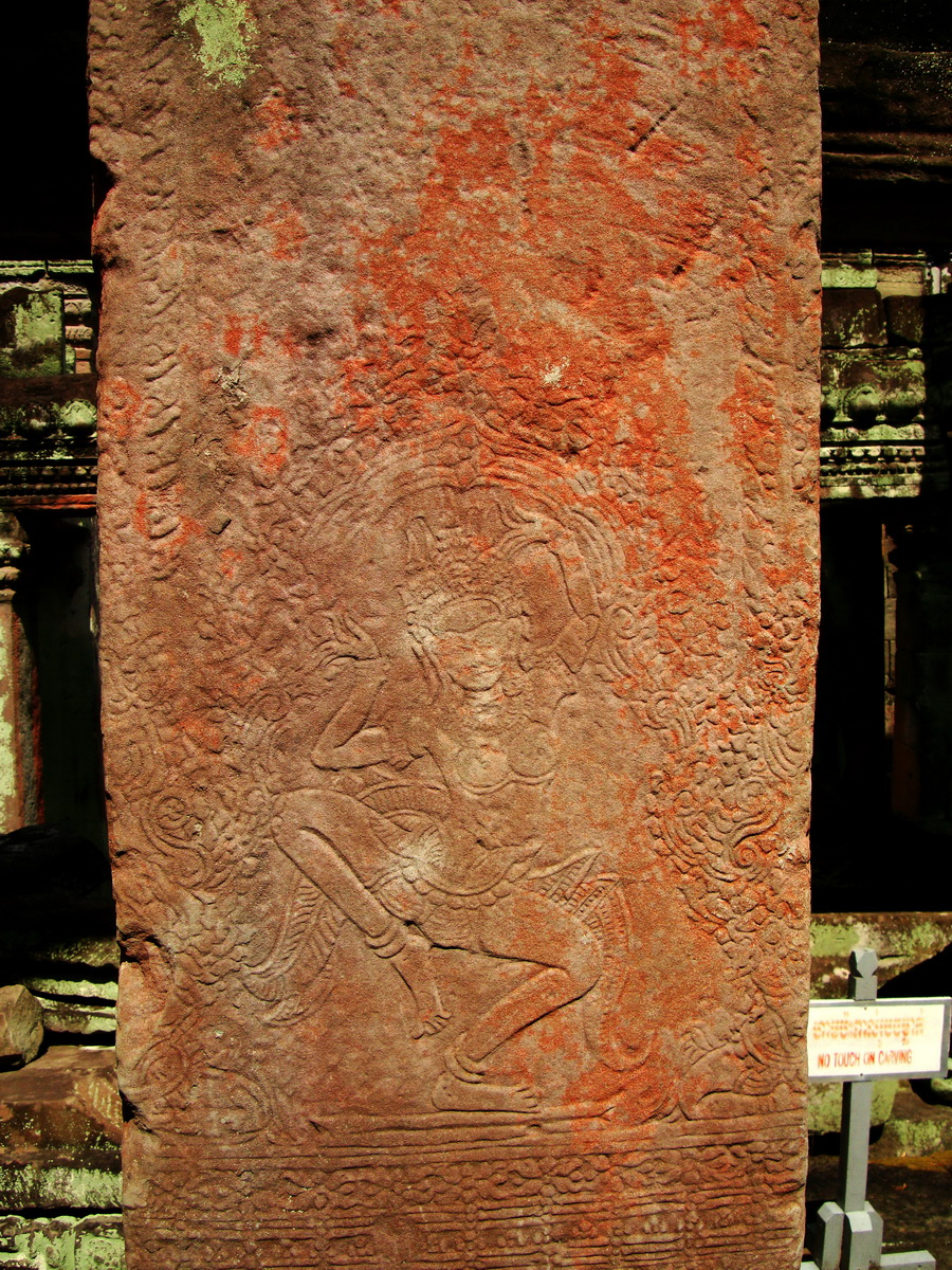 Preah Khan Temple Bas relief dancing Apsaras hall of dancers 14