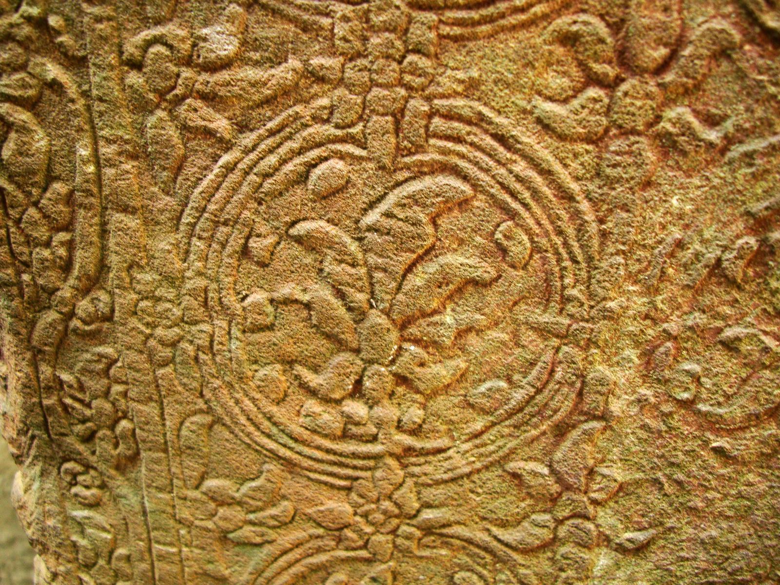 Preah Khan Temple Bas relief inner designs Preah Vihear province 03