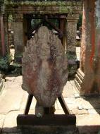 Asisbiz Preah Khan Bas relief 12th ce Khmer Style Naga 01