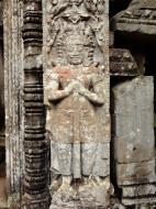 Asisbiz Preah Khan Bas relief mythic guardians Asuras stand on guard 01