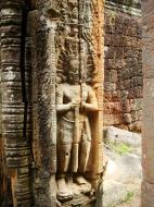 Asisbiz Preah Khan Bas relief mythic guardians Asuras stand on guard 03