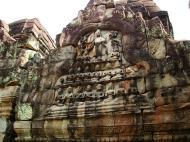 Asisbiz Preah Khan Temple Bas relief Buddhas main enclosure Angkor 01