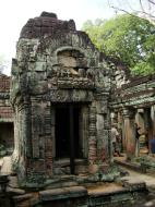 Asisbiz Preah Khan Temple Bas relief Buddhas main enclosure Angkor 02