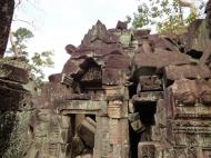 Asisbiz Preah Khan Temple Bas relief Buddhas main enclosure Angkor 03