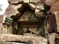 Asisbiz Preah Khan Temple Bas relief Buddhas main enclosure Angkor 04