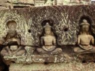 Asisbiz Preah Khan Temple Bas relief Buddhas main enclosure Angkor 07