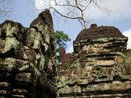 Asisbiz Preah Khan Temple Bas relief Buddhas main enclosure Angkor 08