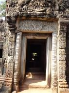 Asisbiz Preah Khan Temple Bas relief column designs Preah Vihear province 04