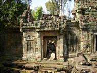 Asisbiz Preah Khan Temple Bas relief false door for the spirits Cambodia 02